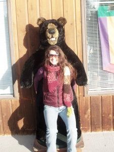 The bear and I had matching mis-matched apparel - so embarrasing
